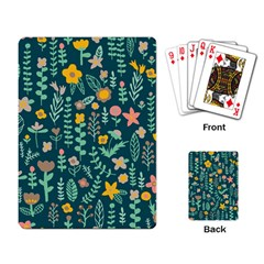 Cute Doodle Flowers 10 Playing Card by tarastyle