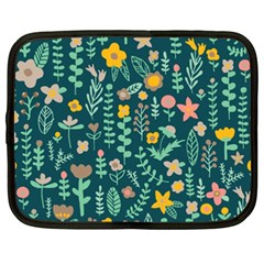 Cute Doodle Flowers 10 Netbook Case (xxl)  by tarastyle