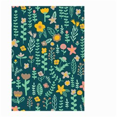Cute Doodle Flowers 10 Small Garden Flag (two Sides) by tarastyle