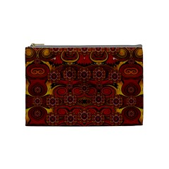 Pumkins  In  Gold And Candles Smiling Cosmetic Bag (medium)  by pepitasart