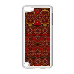 Pumkins  In  Gold And Candles Smiling Apple Ipod Touch 5 Case (white) by pepitasart