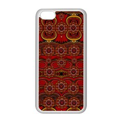 Pumkins  In  Gold And Candles Smiling Apple Iphone 5c Seamless Case (white) by pepitasart