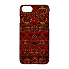 Pumkins  In  Gold And Candles Smiling Apple Iphone 7 Hardshell Case by pepitasart