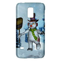 Funny Grimly Snowman In A Winter Landscape Galaxy S5 Mini by FantasyWorld7