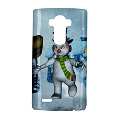 Funny Grimly Snowman In A Winter Landscape Lg G4 Hardshell Case by FantasyWorld7