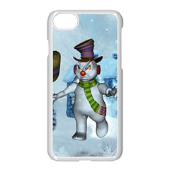 Funny Grimly Snowman In A Winter Landscape Apple Iphone 7 Seamless Case (white) by FantasyWorld7
