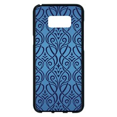 Art Nouveau Teal Samsung Galaxy S8 Plus Black Seamless Case