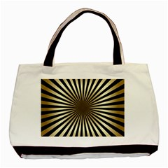 Art Deco Goldblack Basic Tote Bag (two Sides) by 8fugoso