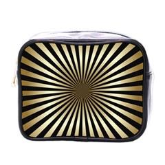 Art Deco Goldblack Mini Toiletries Bags by 8fugoso