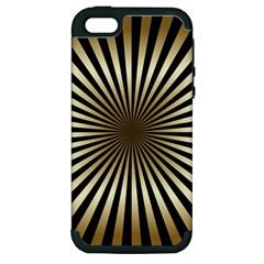 Art Deco Goldblack Apple Iphone 5 Hardshell Case (pc+silicone) by 8fugoso