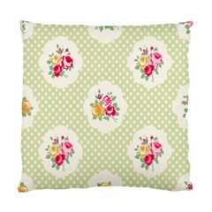 Green Shabby Chic Standard Cushion Case (two Sides) by 8fugoso