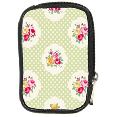 Green Shabby Chic Compact Camera Cases by 8fugoso