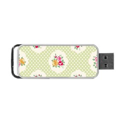 Green Shabby Chic Portable Usb Flash (two Sides) by 8fugoso