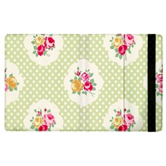 Green Shabby Chic Apple Ipad 3/4 Flip Case by 8fugoso