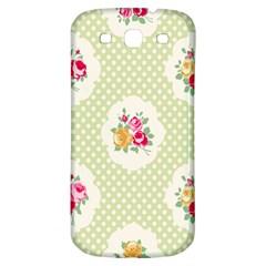 Green Shabby Chic Samsung Galaxy S3 S Iii Classic Hardshell Back Case by 8fugoso