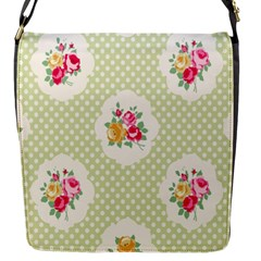 Green Shabby Chic Flap Messenger Bag (s) by 8fugoso