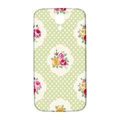 Green Shabby Chic Samsung Galaxy S4 I9500/i9505  Hardshell Back Case by 8fugoso