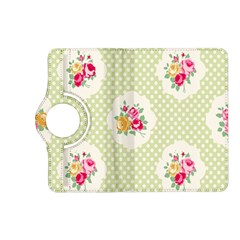 Green Shabby Chic Kindle Fire Hd (2013) Flip 360 Case by 8fugoso