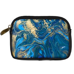 Ocean Blue Gold Marble Digital Camera Cases by 8fugoso