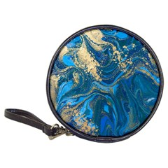 Ocean Blue Gold Marble Classic 20 Cd Wallets by 8fugoso