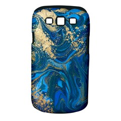 Ocean Blue Gold Marble Samsung Galaxy S Iii Classic Hardshell Case (pc+silicone) by 8fugoso