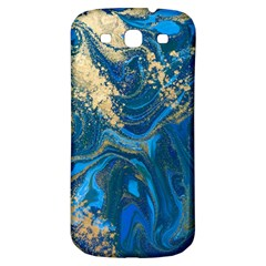 Ocean Blue Gold Marble Samsung Galaxy S3 S Iii Classic Hardshell Back Case by 8fugoso