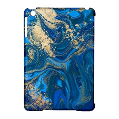 Ocean Blue Gold Marble Apple Ipad Mini Hardshell Case (compatible With Smart Cover) by 8fugoso