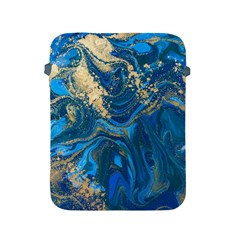 Ocean Blue Gold Marble Apple Ipad 2/3/4 Protective Soft Cases by 8fugoso