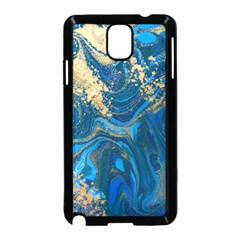 Ocean Blue Gold Marble Samsung Galaxy Note 3 Neo Hardshell Case (black) by 8fugoso