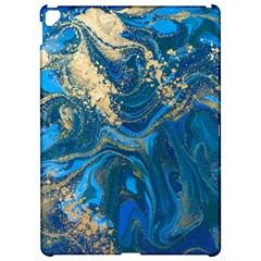 Ocean Blue Gold Marble Apple Ipad Pro 12 9   Hardshell Case by 8fugoso