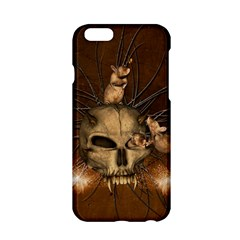 Awesome Skull With Rat On Vintage Background Apple Iphone 6/6s Hardshell Case by FantasyWorld7