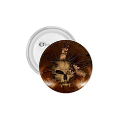Awesome Skull With Rat On Vintage Background 1 75  Buttons by FantasyWorld7
