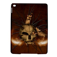 Awesome Skull With Rat On Vintage Background Ipad Air 2 Hardshell Cases
