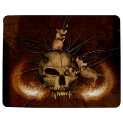 Awesome Skull With Rat On Vintage Background Jigsaw Puzzle Photo Stand (rectangular) by FantasyWorld7