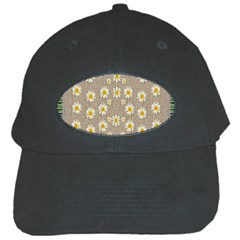 Star Fall Of Fantasy Flowers On Pearl Lace Black Cap by pepitasart