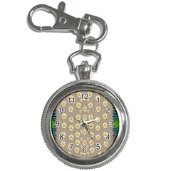 Star Fall Of Fantasy Flowers On Pearl Lace Key Chain Watches by pepitasart