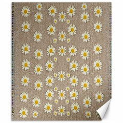 Star Fall Of Fantasy Flowers On Pearl Lace Canvas 8  X 10  by pepitasart