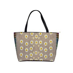 Star Fall Of Fantasy Flowers On Pearl Lace Shoulder Handbags by pepitasart