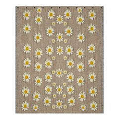 Star Fall Of Fantasy Flowers On Pearl Lace Shower Curtain 60  X 72  (medium)  by pepitasart