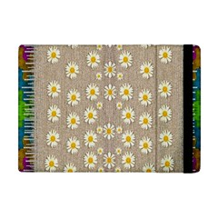 Star Fall Of Fantasy Flowers On Pearl Lace Apple Ipad Mini Flip Case by pepitasart