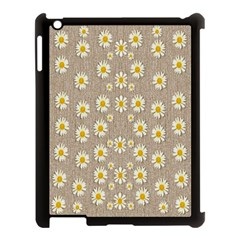 Star Fall Of Fantasy Flowers On Pearl Lace Apple Ipad 3/4 Case (black) by pepitasart