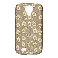 Star Fall Of Fantasy Flowers On Pearl Lace Samsung Galaxy S4 Classic Hardshell Case (pc+silicone) by pepitasart