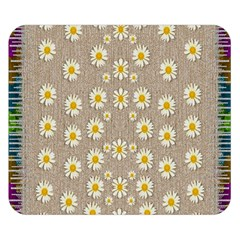 Star Fall Of Fantasy Flowers On Pearl Lace Double Sided Flano Blanket (small)  by pepitasart