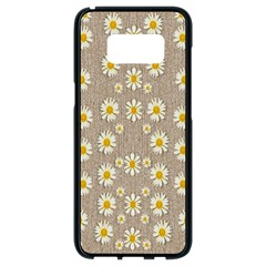 Star Fall Of Fantasy Flowers On Pearl Lace Samsung Galaxy S8 Black Seamless Case by pepitasart