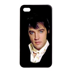 Elvis Presley Apple Iphone 4/4s Seamless Case (black) by Valentinaart