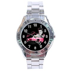 Elvis Presley s Pink Cadillac Stainless Steel Analogue Watch by Valentinaart