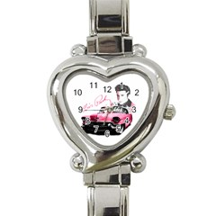 Elvis Presley s Pink Cadillac Heart Italian Charm Watch by Valentinaart