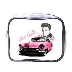 Elvis Presley s Pink Cadillac Mini Toiletries Bags by Valentinaart