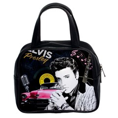 Elvis Presley Collage Classic Handbags (2 Sides) by Valentinaart