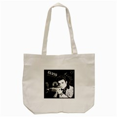 Elvis Presley Collage Tote Bag (cream) by Valentinaart